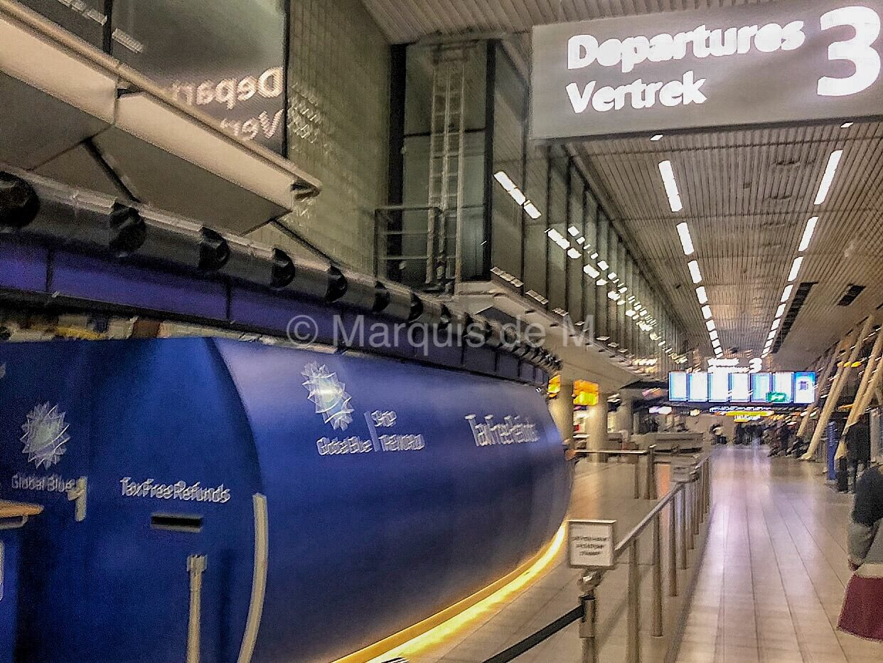 オランダ アムステルダム スキポール空港 免税 Amsterdam schiphol airport tax refund