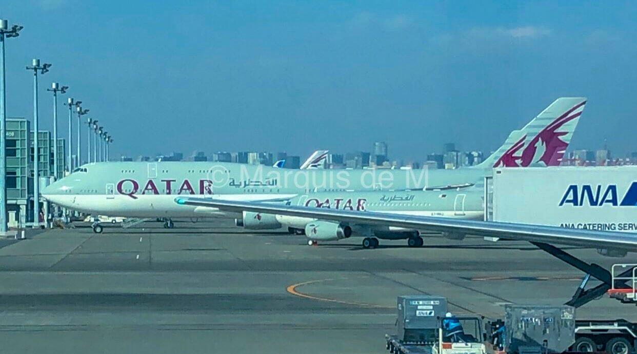 カタール航空 政府専用機 B747–8 Qatar amiri flight Haneda 羽田