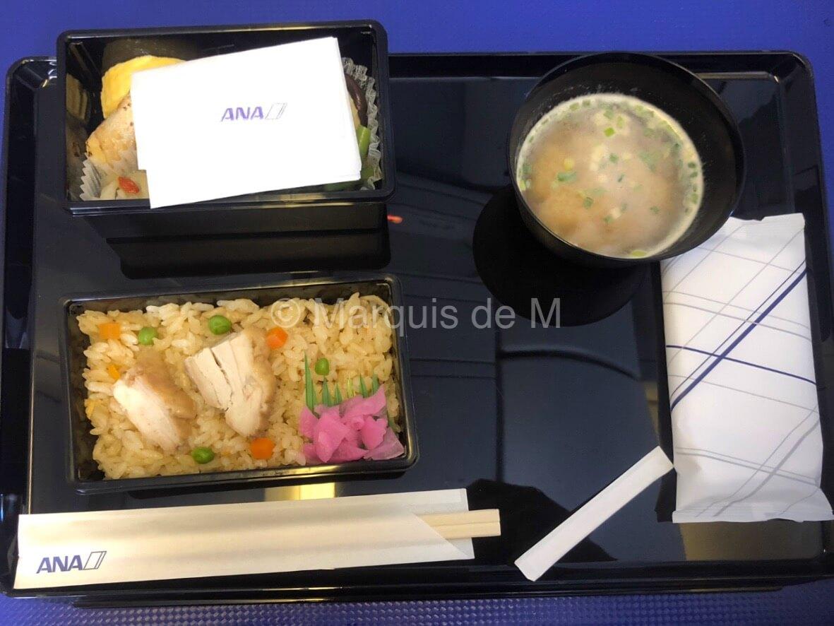 ANA プレミアムクラス 食事 premiumclass chair